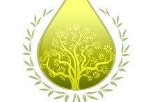 Olive oil label or emblem