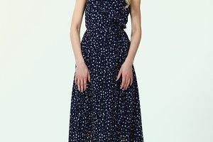 Beautiful Busyness Woman Model in sleeveless dress