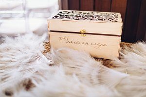 Vintage wooden box which is a family treasury