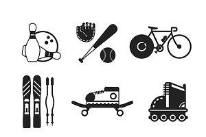 Monochrome sport iconset