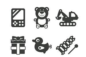 Monochrome toys iconset