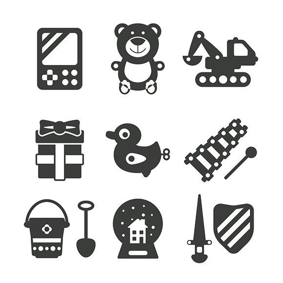 Monochrome Toys Iconset