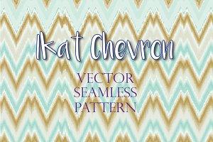 Ikat Chevron Vector Pattern (#12)