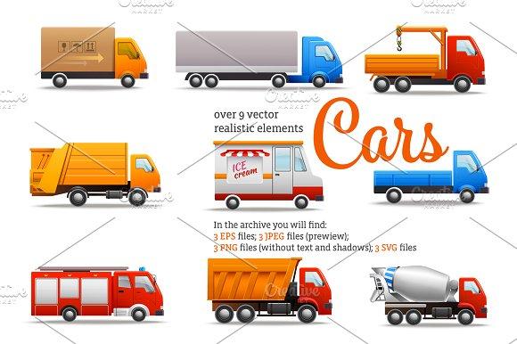 Realistic Trucks Set