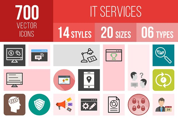 700 IT Services Icons