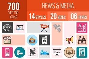 700 News & Media Icons