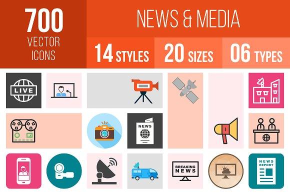 700 News Media Icons