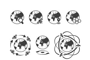 Global communications iconset
