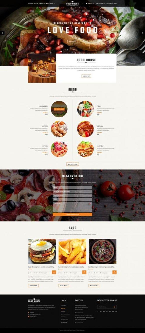 Food Responsive OpenCart Theme