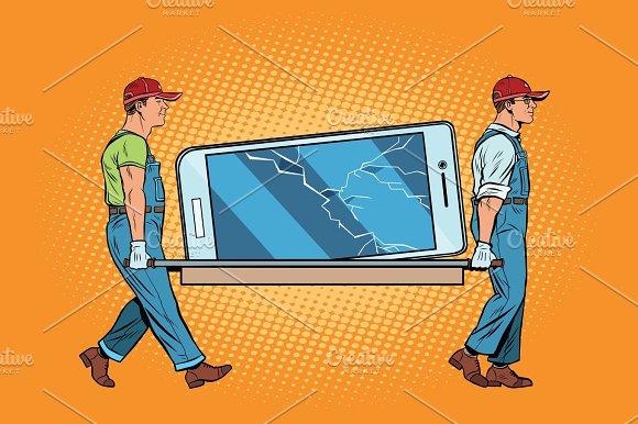 Repair Of Smartphones Broke The Screen