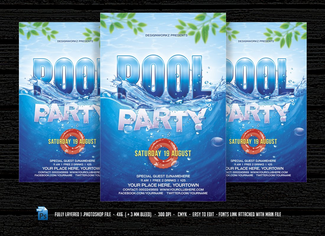 pool party photos graphics fonts themes templates creative market