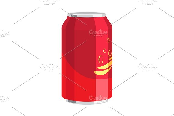 Steel Can Of Drink Celebration Of Any Holiday