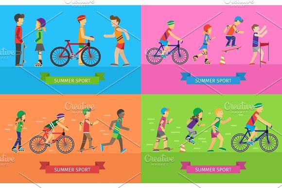Summer Sport Vector Concepts In Flat Design