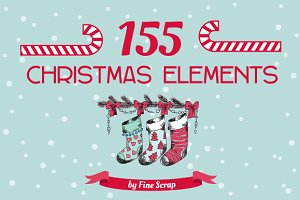 Christmas pack 155 elements