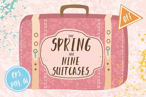 50% OFF Spring font/9 suitcases