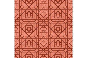 Geometric linear red retro pattern