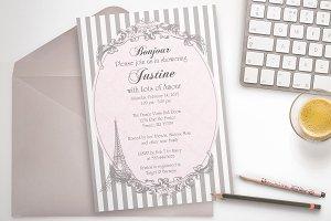 Parisian Chic party invitation