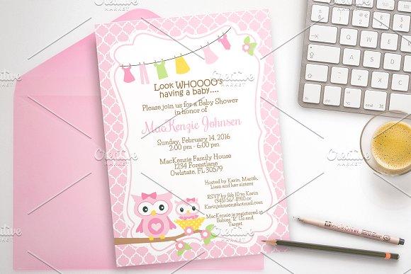 Owl Baby Shower Invitation Invitations