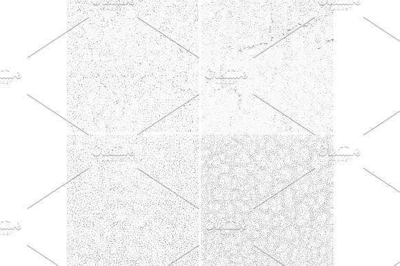 Grey Subtle Dotted Grunge Vector Textures Distressed Noise Weathered Patterns Set