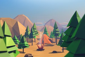 Low Poly Forest Island