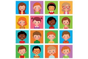 Set avatars boys and girls