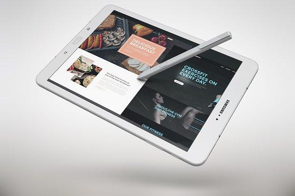 Samsung Galaxy Tab S3 App SkinMockUp