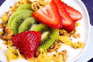 Fruit, Greek Yogurt & Granola