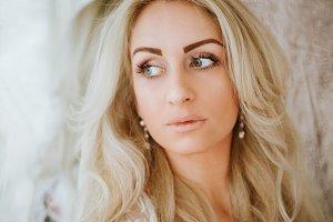beautiful  blonde woman portrait