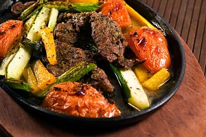 Carne Asada Beef Grilled Vegetables