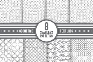 Thin line textured seamless patterns