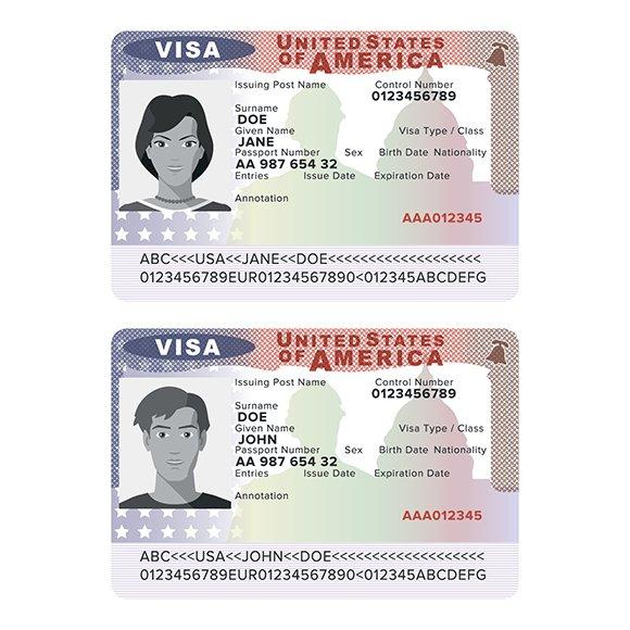 Usa passport visa sticker template objects creative market usa passport visa sticker template objects altavistaventures Choice Image