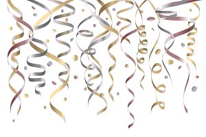 holiday background vector confetti