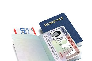 International passport with USA visa