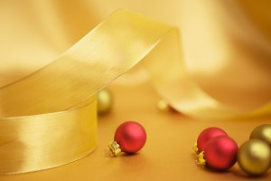 Holiday Ribbon and Ornaments