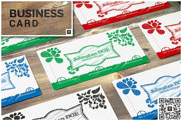 sketch modern business card business card templates creative market