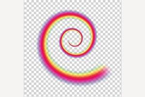 Rainbow Vector Swirl