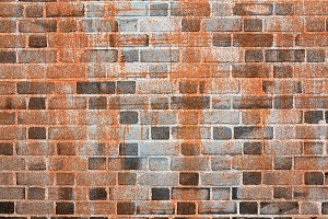 rusted metal and brick texture background