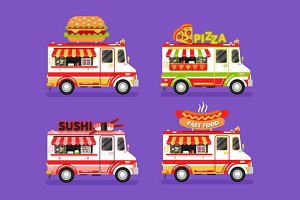 Food Trucks vol.5 Vector