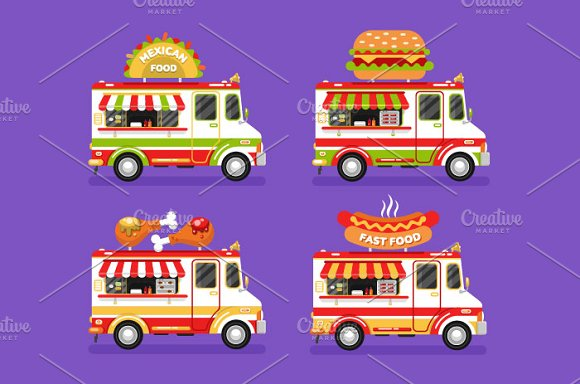 Food Trucks Vol.6 Vector