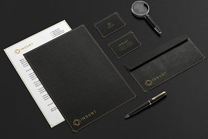 INSUNT Gold Stationery Design