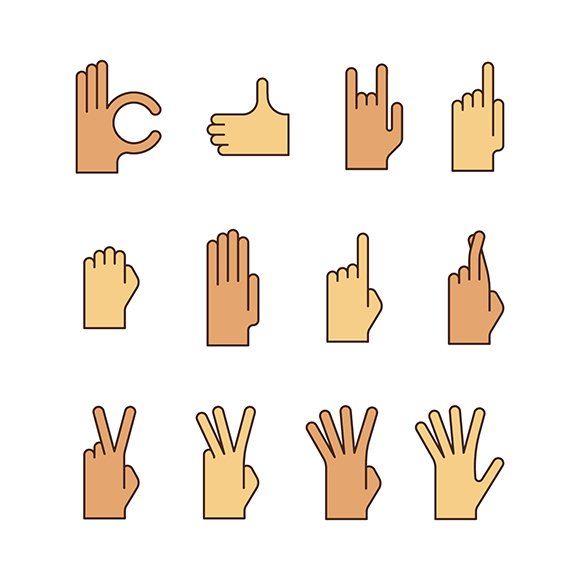 Minimal Flat Gestures Iconset