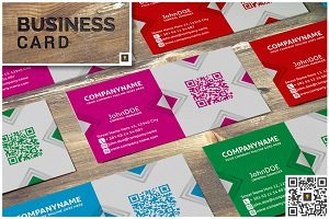 X Modern Business Card