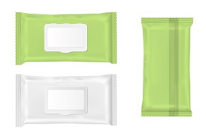 Wet wipes package with flap