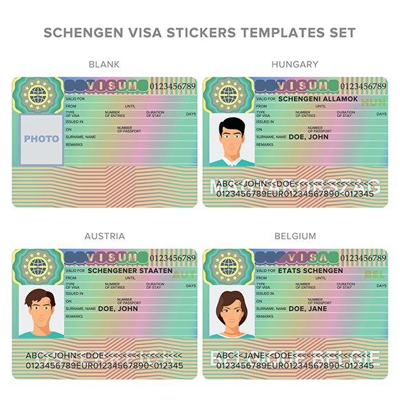 Hungary Belgium Austira Visa Stamp