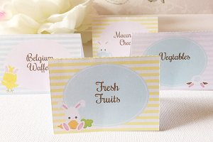 Eatser tent style table cards
