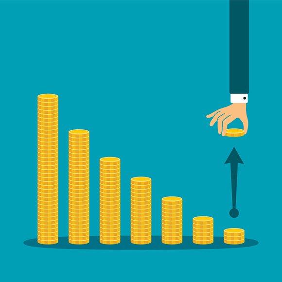 Business Profit Decline Concept