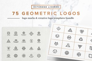 75 Geometric Logo Bundle