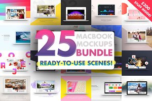 25 MacBook™ Mockups Bundle