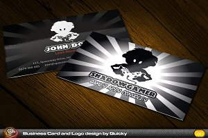 Shadow Gamer Business Card & Logo