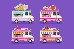 Food Trucks vol.7 Vector